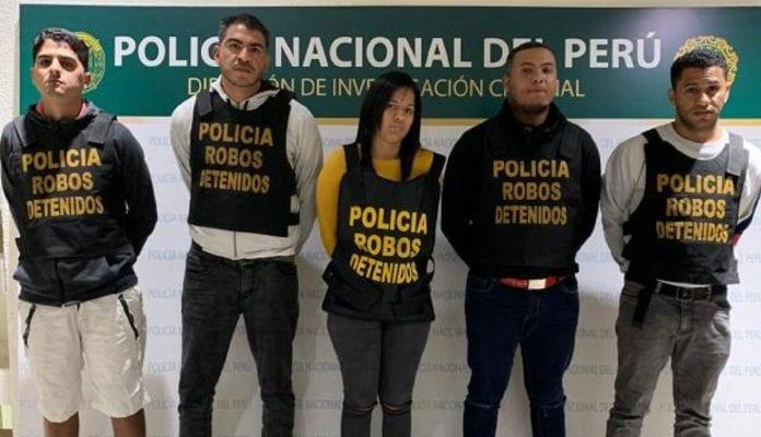 Cinco venezolanos detenidos por ejecutar atracos a turistas en Perú