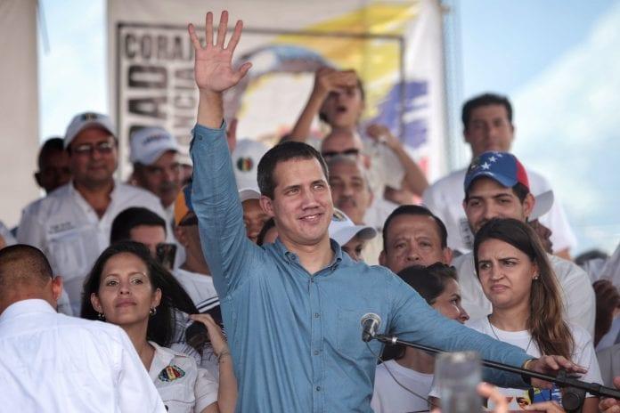 El presidente Juan Guaidó desde el Estado Aragua