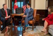 Mike Pompeo, secretario de Estado de Estados Unidos agradeció este jueves a Justin Trudeau, primer ministro de Canadá, en sus esfuerzos por lograr una solución a la crisis de Venezuela