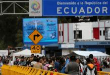 Migrantes venezolanos en Rumichaca