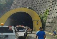 Entrada túnel que va hacia Guarenas