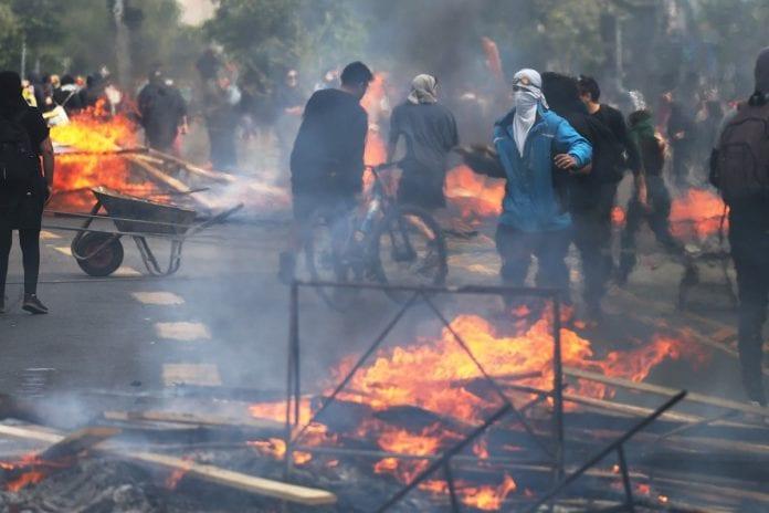 estado de emergencia de Santiago