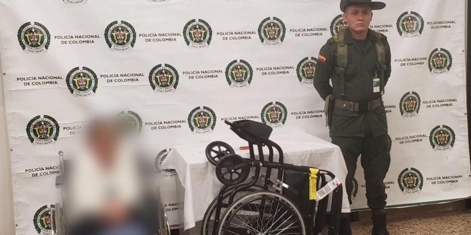 Abuelita en silla de ruedas fue capturada con cocaína en Rionegro
