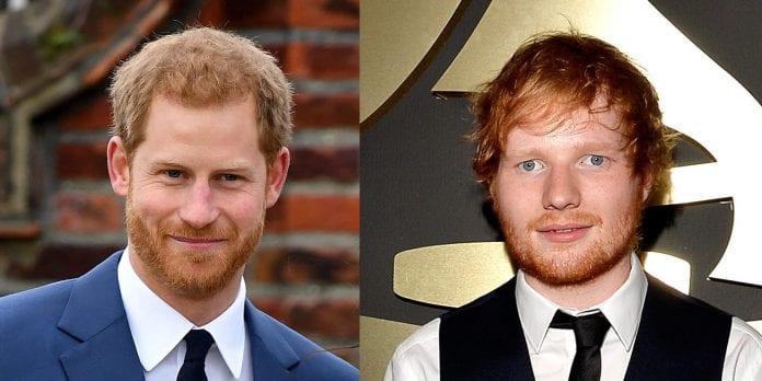 Ed Sheeran príncipe Harry