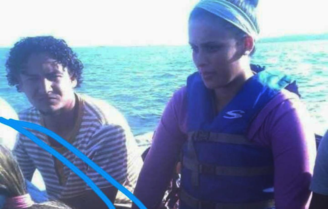 Kelly Zambrano en la embarcación Ana María que salió desde Güiria hacia Trinidad y Tobago