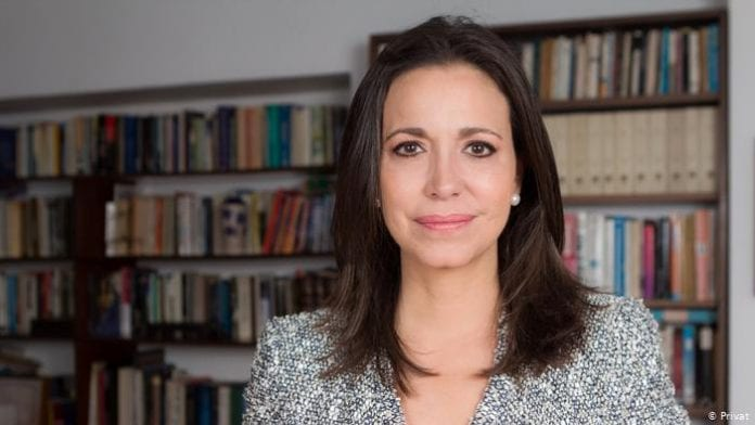 La coordinadora de la organización política, Vente Venezuela, María Corina Machado