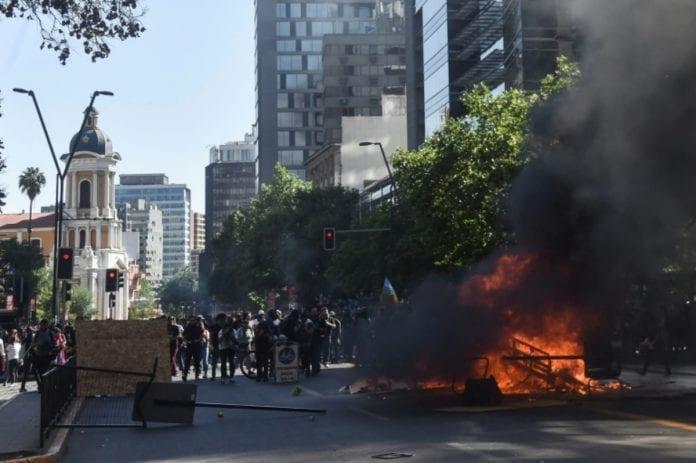 Protestas en Chile expulsó