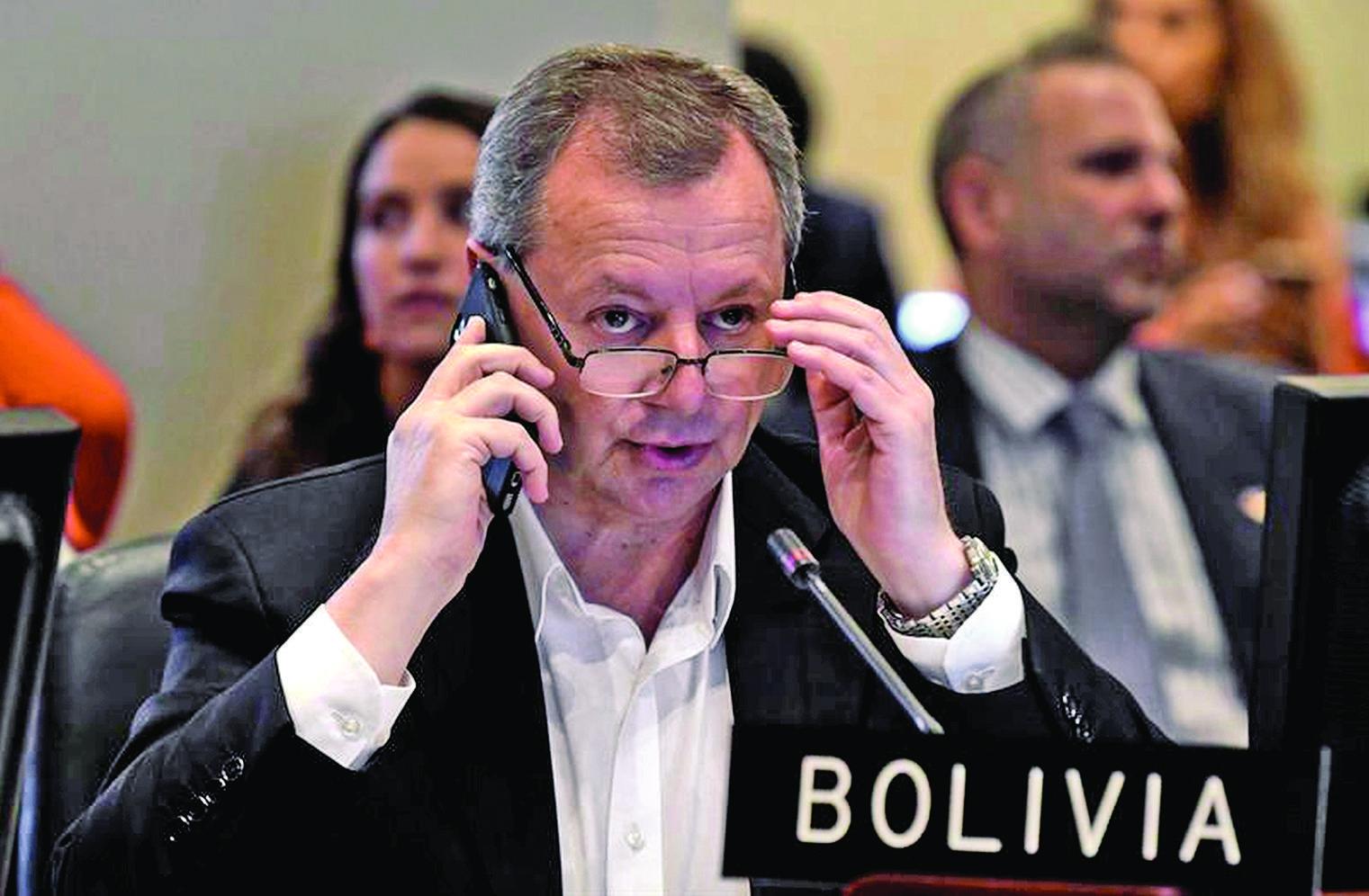 'Gringo' Gonzales renuncia a la representación de Bolivia ante la OEA