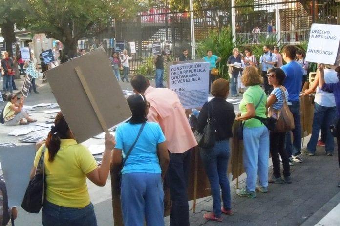 Protesta de adultos mayores, pensionados