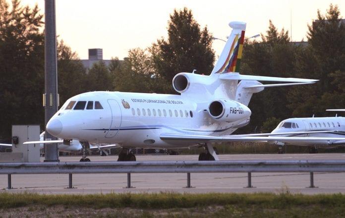 El avión aterrizó en la ciudad de Chimoré, Cochabamba, Bolivia