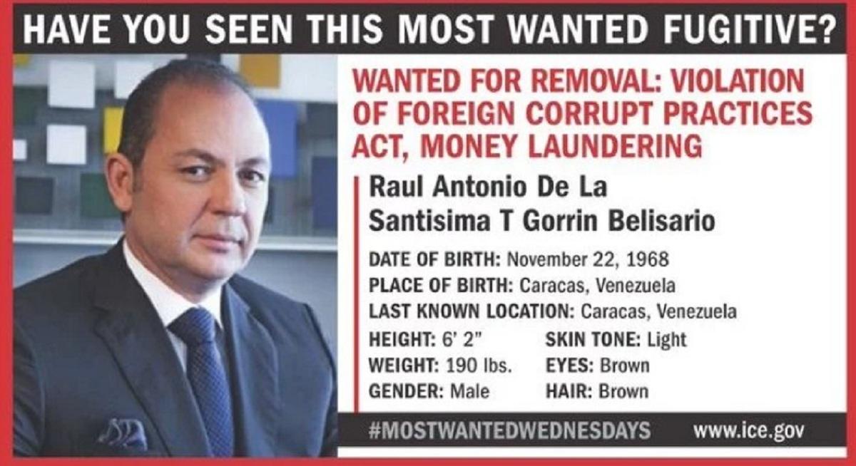 Estados Unidos incluye a Raúl Gorrín en su lista de más buscados