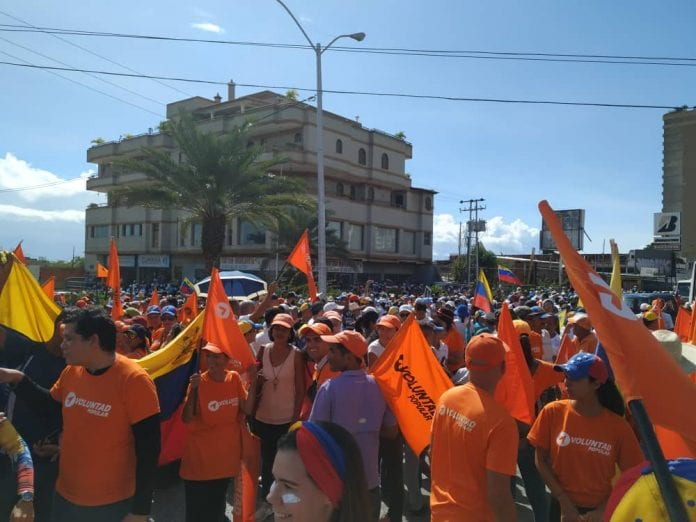 Militantes de Voluntad Popular en Nueva Esparta
