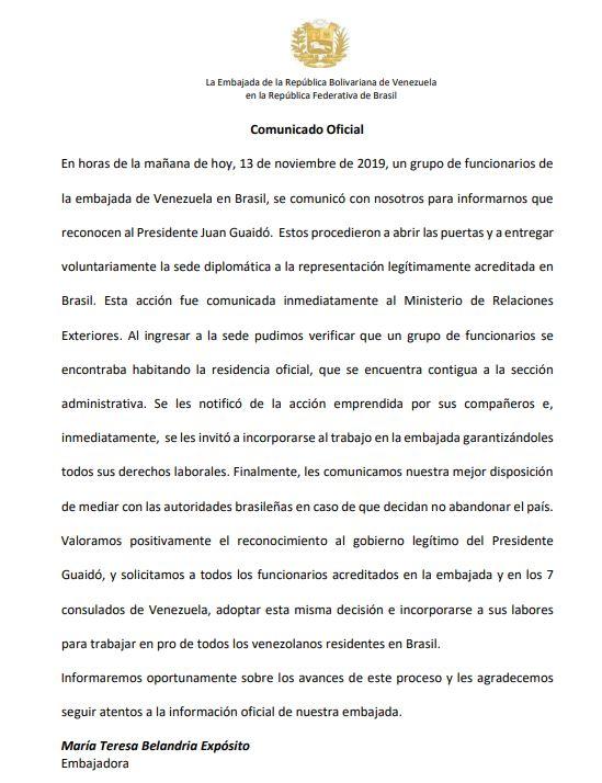embajada brasilia