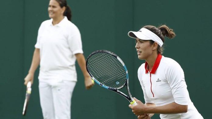 Muguruza y Conchita Martinez- AFP