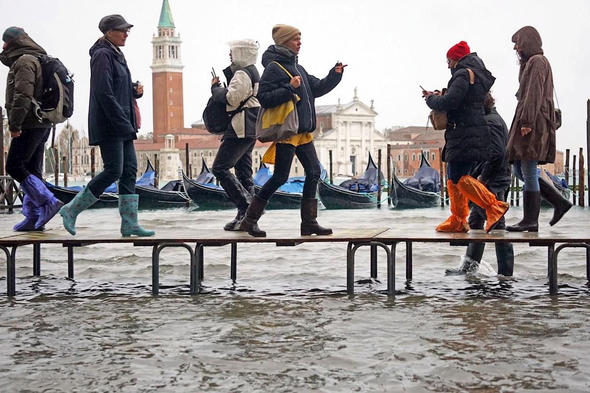 Venecia afectada por una