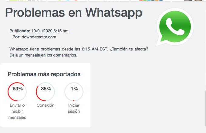 Se cayó WhatsApp: no se pueden enviar fotos, audios ni videos