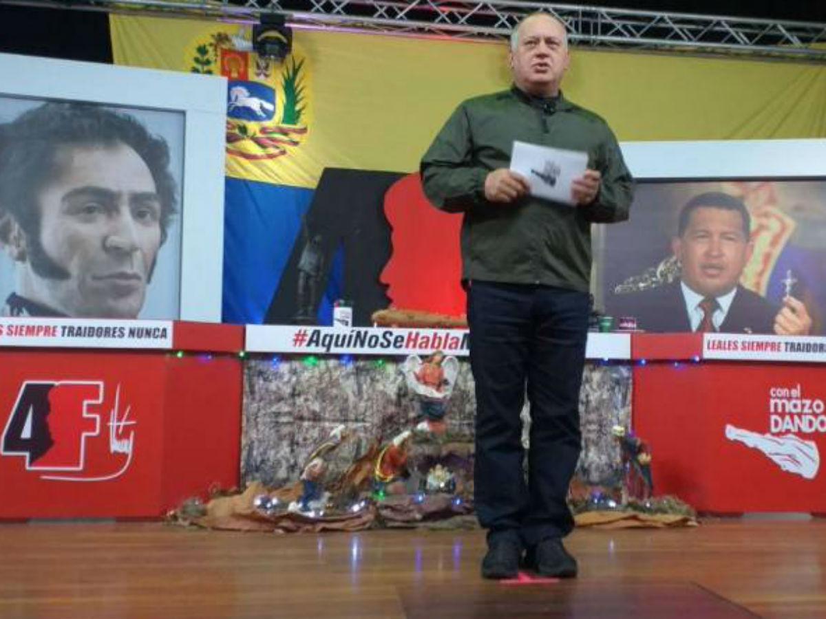 Diosdado Cabello ratifica elecciones de diputados a la Asamblea Nacional este año
