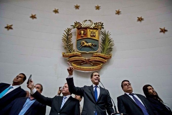 Juan Guaidó en el Hemiciclo de Sesiones de la AN