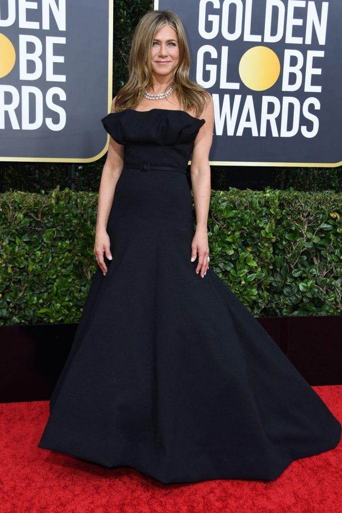 Jenniffer Aniston alfombra roja globos de oro