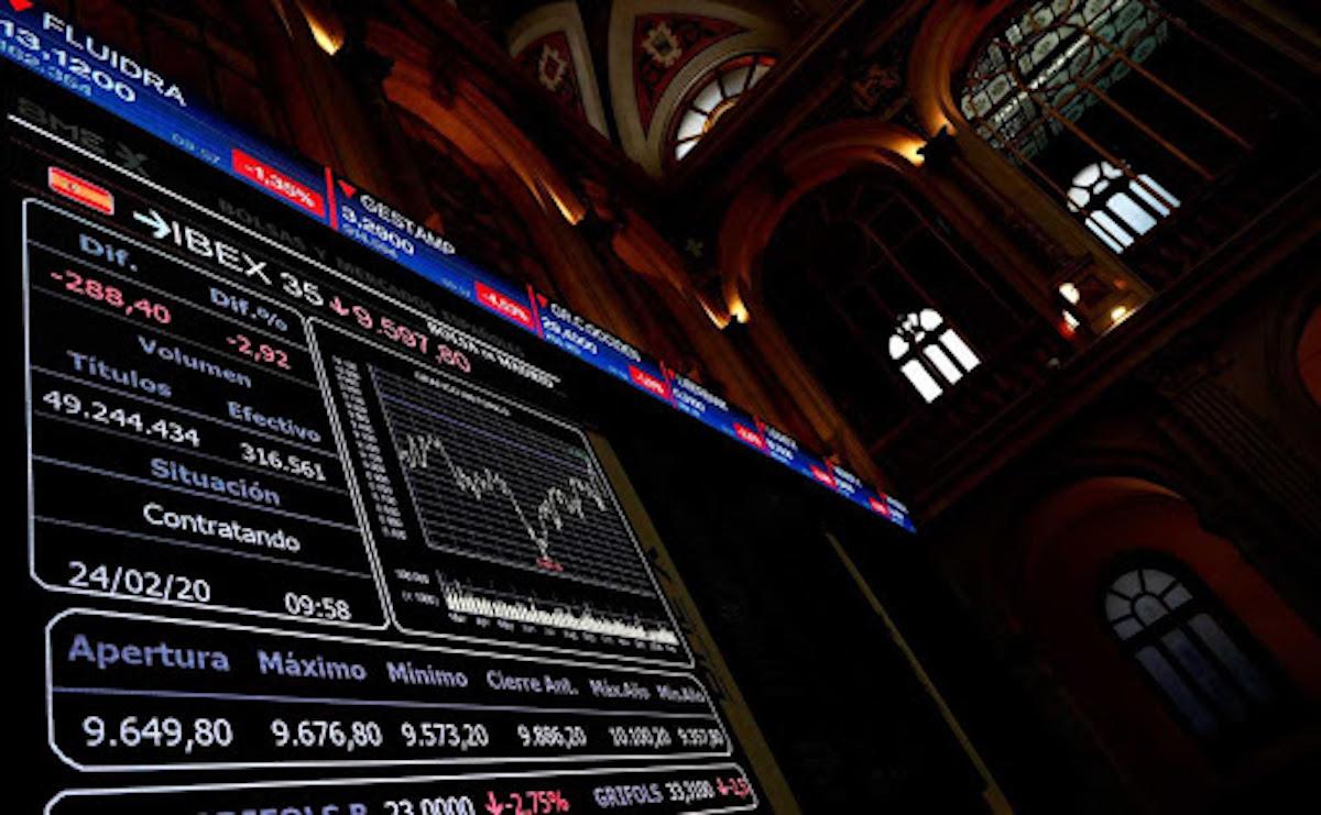 Baja valor de mercado en acciones europeas por temores al coronavirus