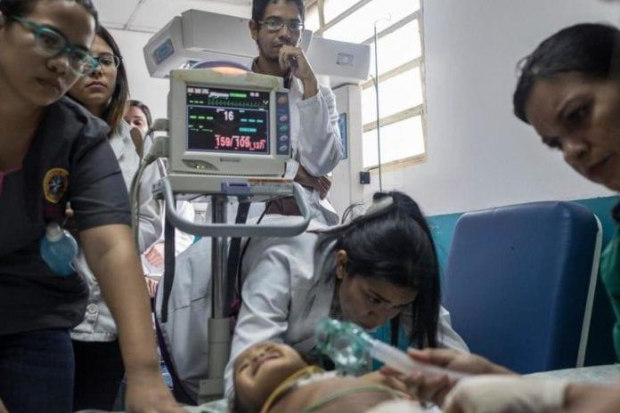 Desnutrición infantil severa en Venezuela