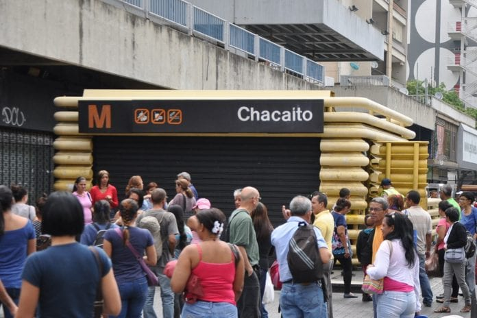Estación Chacaíto del Metro de Caracas, artefacto explosivo