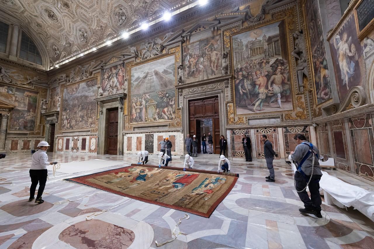 Los tapices de Rafael en la Capilla Sixtina