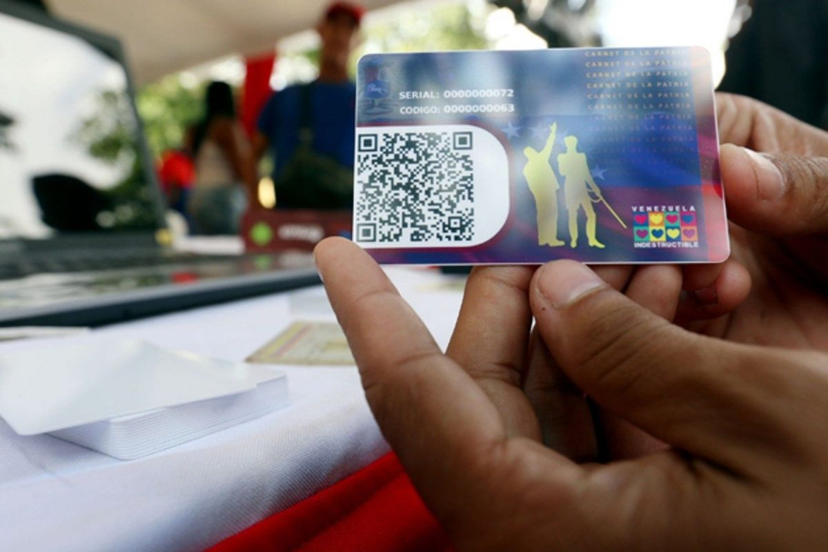 Régimen ofrece beneficios a través del carnet de la patria por crisis del coronavirus
