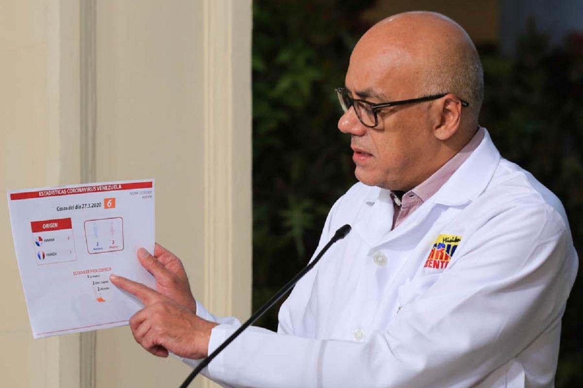 Jorge Rodríguez anunció 29 casos nuevos de COVID-19 en el país