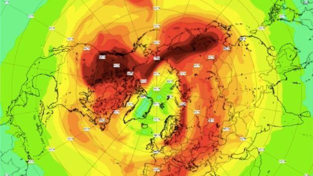El inusual clima frio golpeará a Estados Unidos 1