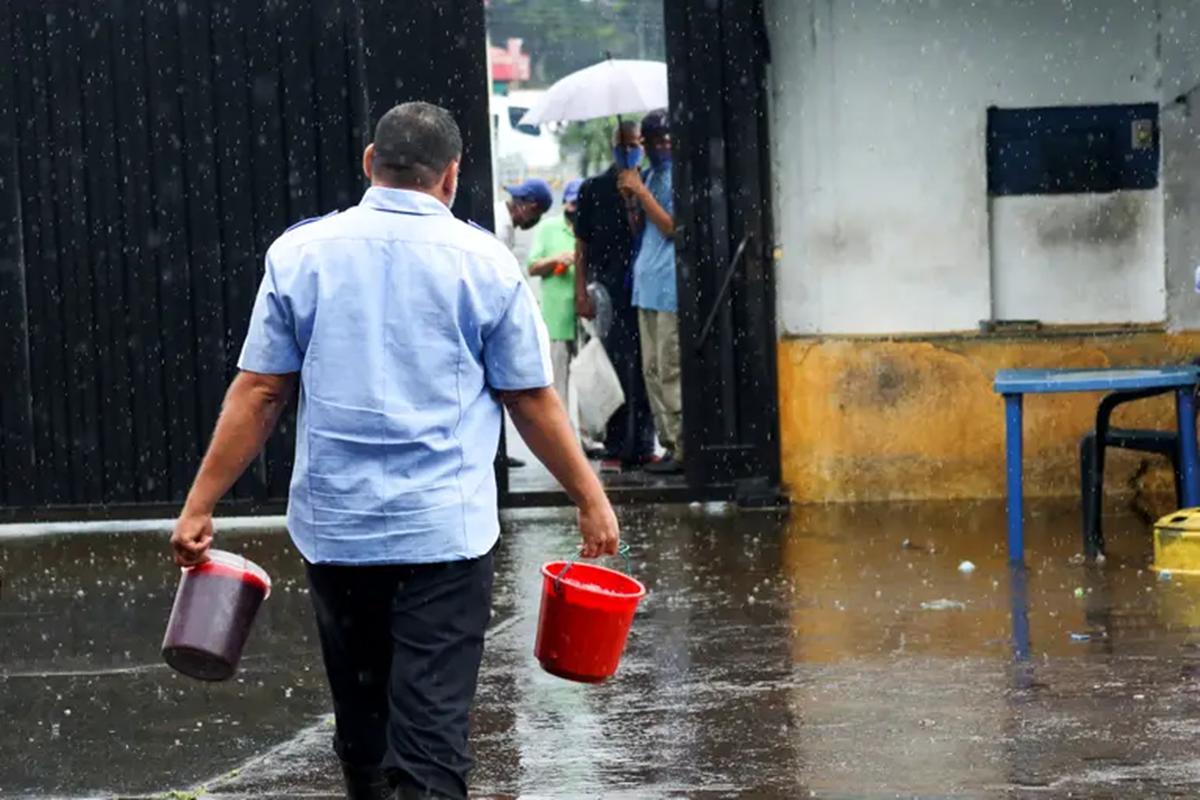 Sangre de res matadero de San Cristóbal