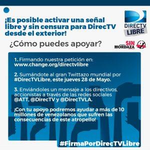 Realizarán tuitazo para pedir un Directv sin censura en Venezuela 3
