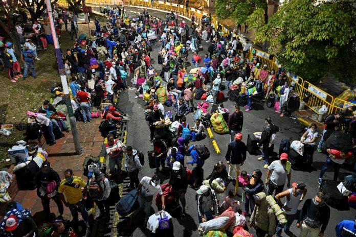 El número de venezolanos en Colombia