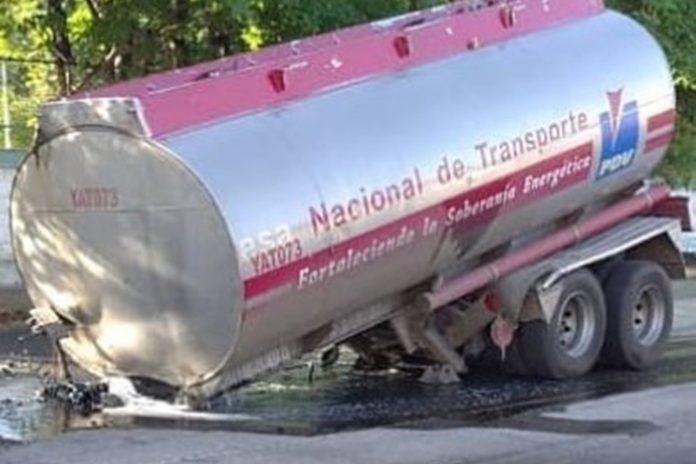 gasolina camion maracay