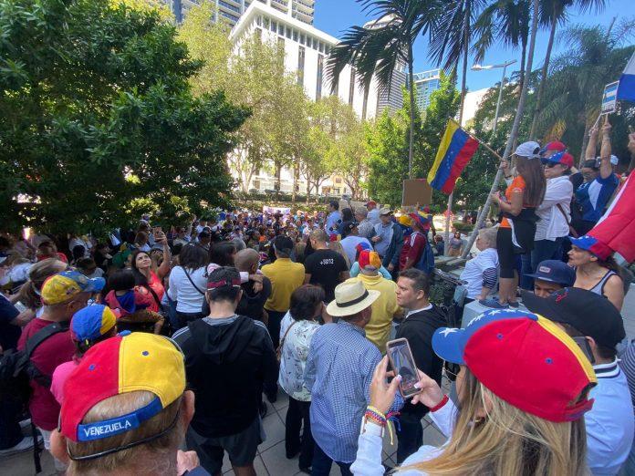 Venezolanos en Florida pidieron a Trump más presión para la salida de Maduro