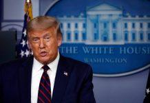 Donald Trump fue sacado de una conferencia de prensa debido a un presunto tiroteo en los alrededores de la Casa Blanca