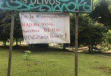 El Hatillo amaneció con pancartas alusivas en contra de Nicolás Maduro