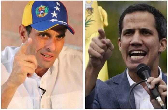 Capriles, Guaidó, Maduro