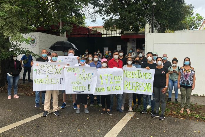 Venezolanos varados en República Domicana